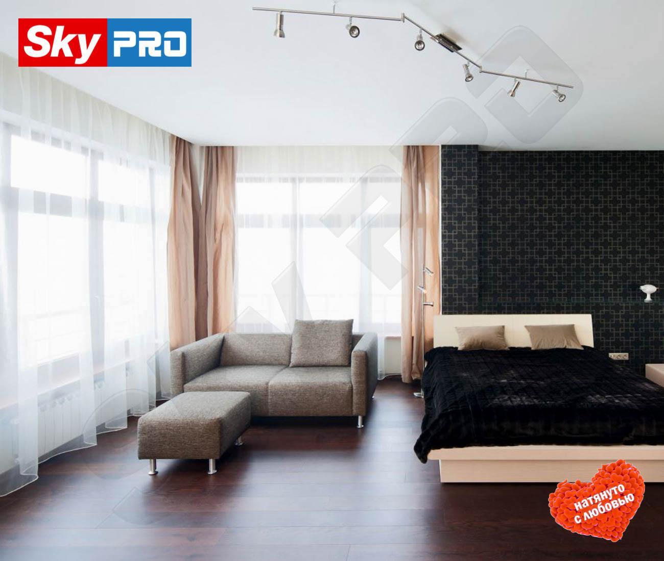 Белый тканевый натяжной потолок Cerutti цена за метр