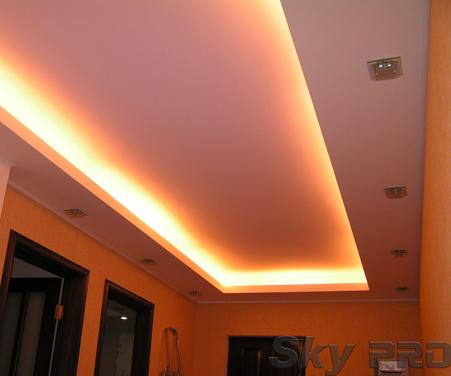 Освещение многоуровневых потолков